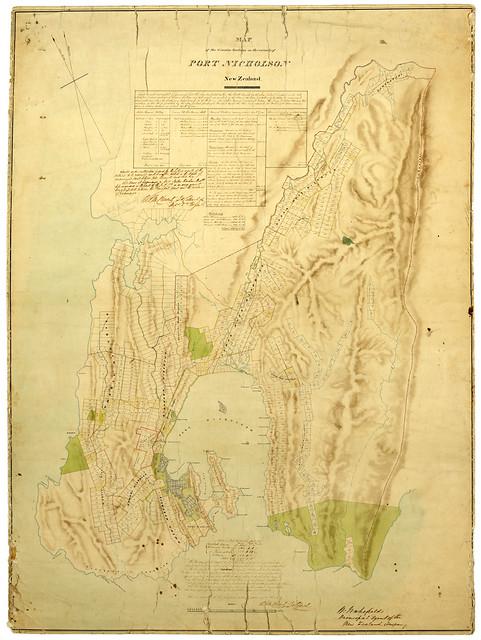New Zealand Company plan of Port Nicholson, 1840