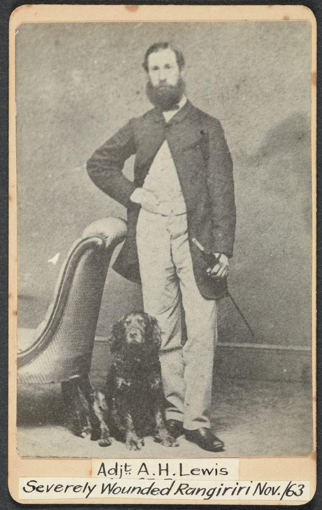 Adjt. A.H. Lewis, severely wounded Rangiriri Nov 1863