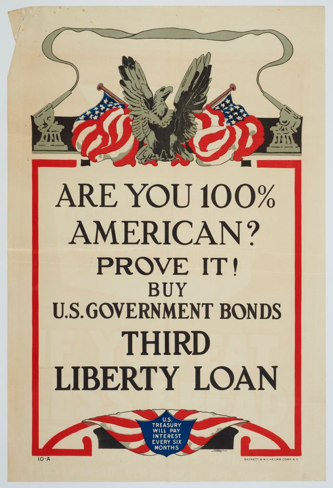 Poster, 'Are You 100% American?'