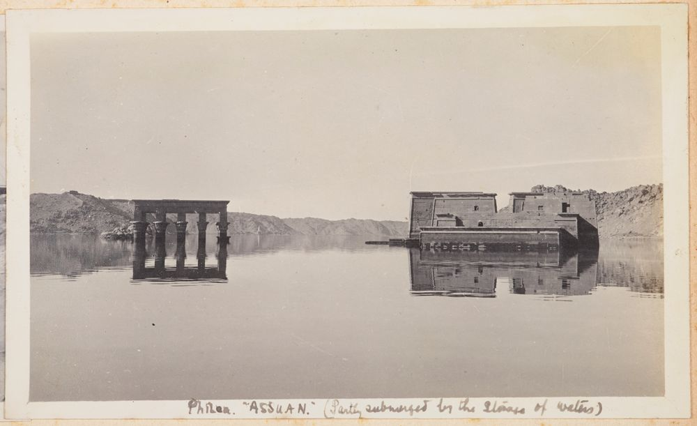 Philae, Assuan (partly submerged by the storage of waters). From the album: Photograph album of Major J.M. Rose, 1st NZEF