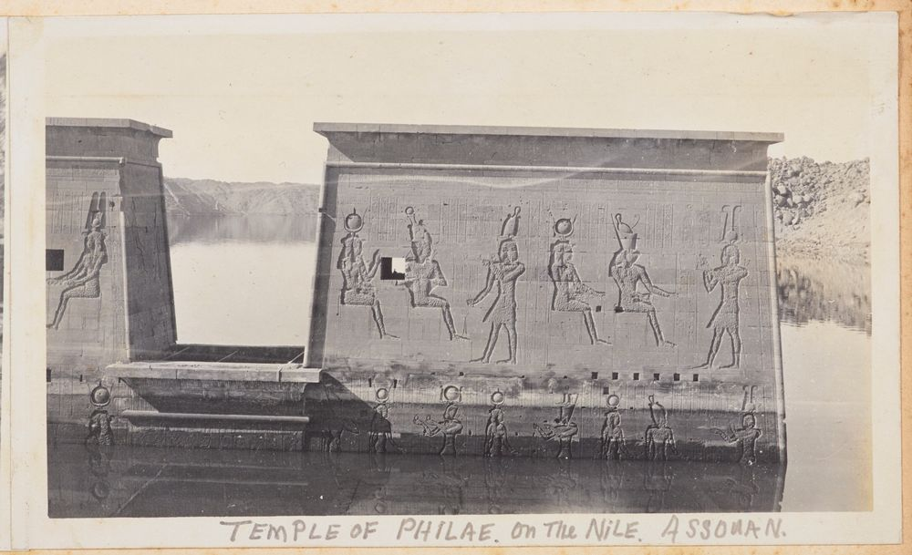 Temple of Philae, on the Nile, Assouan. From the album: Photograph album of Major J.M. Rose, 1st NZEF