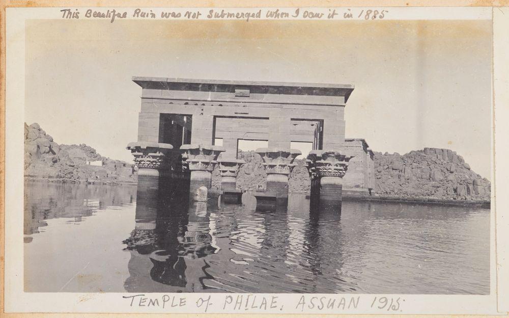 Temple of Philae, Assuan 1915. From the album: Photograph album of Major J.M. Rose, 1st NZEF