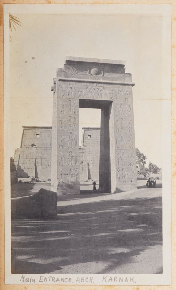 Main entrance arch, Karnak. From the album: Photograph album of Major J.M. Rose, 1st NZEF