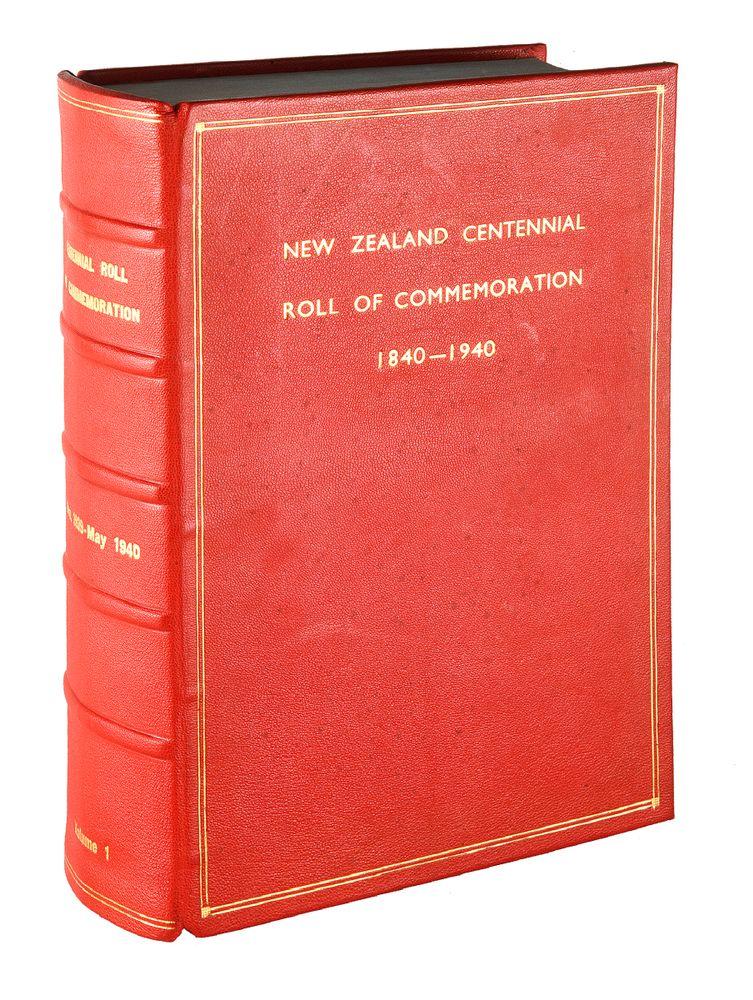Visitors' books , New Zealand Centennial Exhibition, 1939-40.