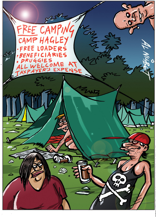 Nisbet, Alastair, 1958- :FREE camping - Camp Hagley ... 10 March 2012