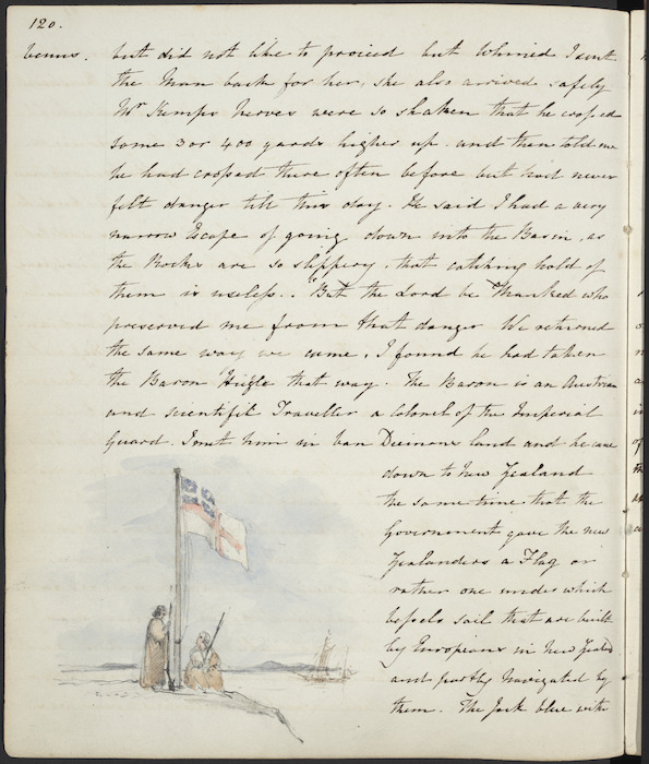 The Government gave the New Zealanders a flag or rather one under which vessels sail... (United Tribes Ensign, Waitangi)