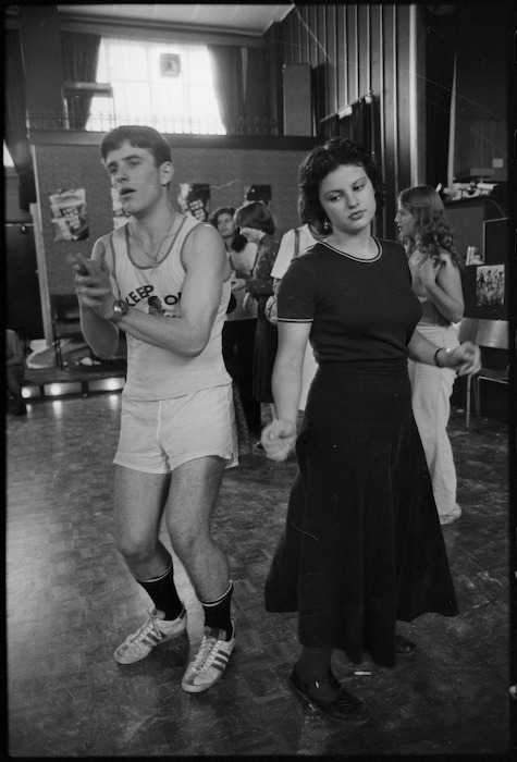 Bob Easton and Hera Cook participating in a dance marathon