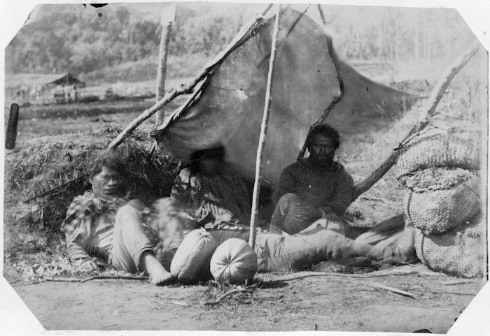Maori group selling melons and peaches
