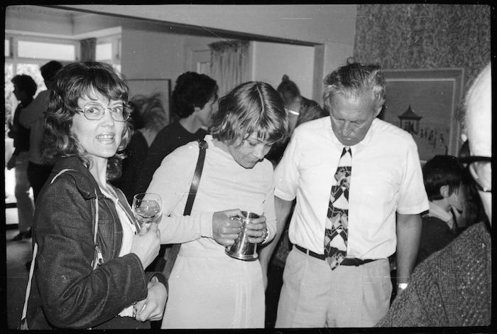 Novelist, Marilyn Duckworth, with others