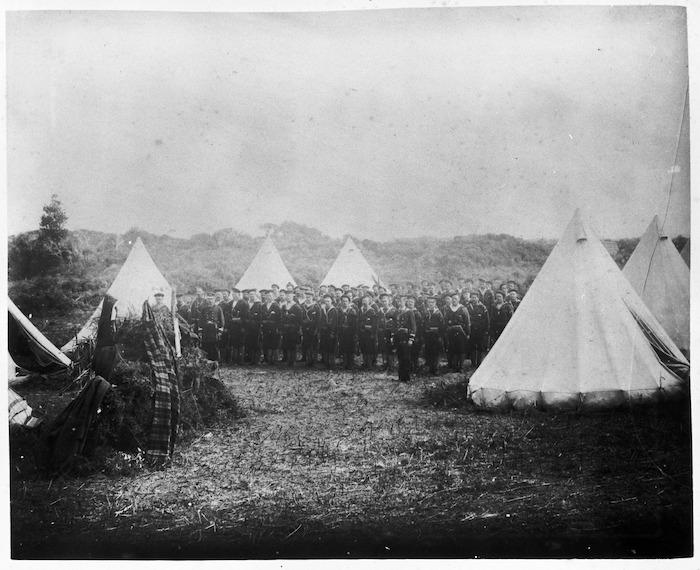 Members of the 'Wellington Navals' at Parihaka