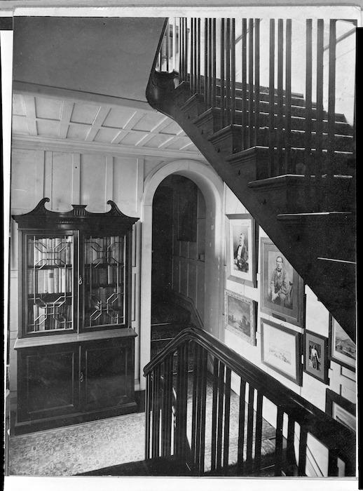 Alexander Turnbull Library stairway, Bowen Street, Wellington