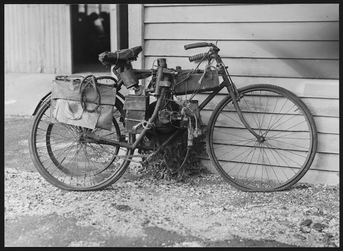 Motorcycle belonging to Richard Pearse