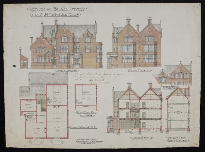 Thomas Turnbull & Son :Residence Bowen Street for A H Turnbull Esq[uir]e. February 8th 1916