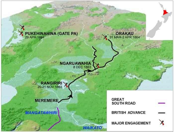 Waikato War map