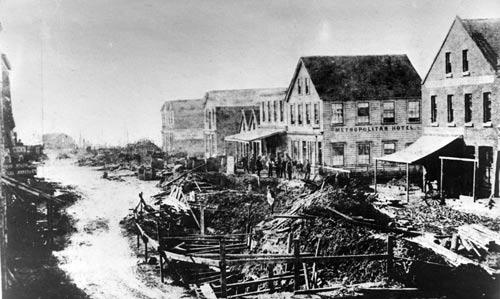 Ligar Canal, Auckland, 1860s