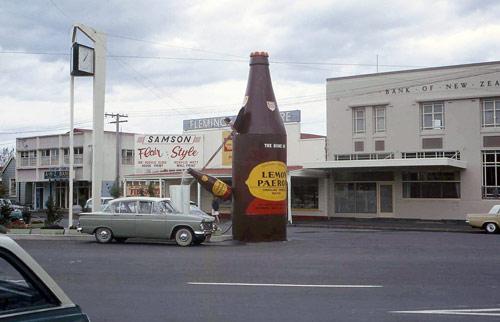 Paeroa: L&P bottle, 1968