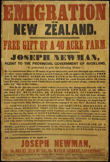 Immigration promotion: Auckland, 1850s