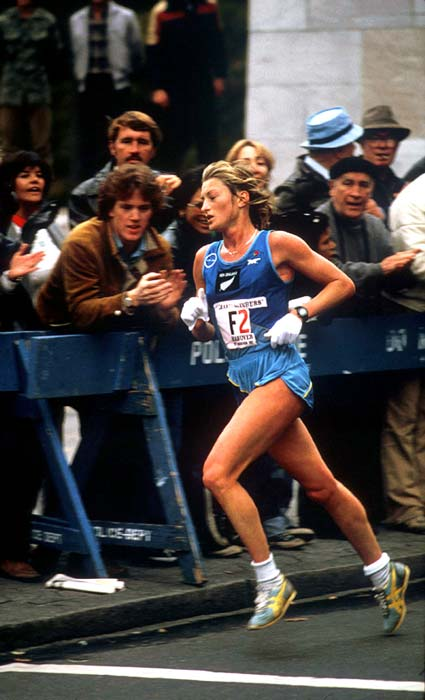 Allison Roe in the New York Marathon, 1981