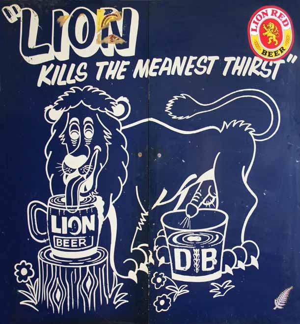 Lion beer advertisement
