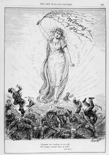 Suffrage cartoon, 1893