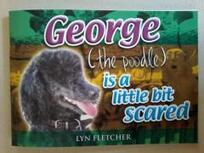 George (the poodle) is a little bit scared / Lyn Fletcher.