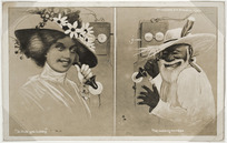 """Lloyd, Trevor 1863-1937 :""""Is that you Lovey""""; The wrong number. / Auckland, Frank Duncan & Co., [1911-16?]"""