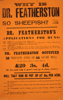 Why is Dr Featherston so sheepish? [1857]