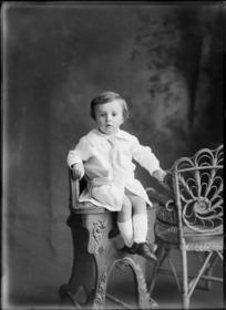 Studio portrait of unidentified child, probably Christchurch