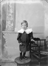 Studio portrait of unidentified boy, probably Christchurch
