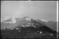 Typical Italian village just behind forward area of the NZ Sector, World War II - Photograph taken by George Kaye