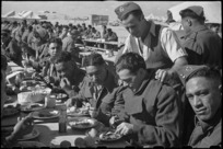 Staff Sergeant J Johnson who arranged the Christmas Dinner at the Maori Training Depot, Maadi Camp, Egypt - Photograph taken by George Robert Bull