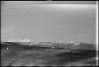 View of the German held town of Orsogna, Italy, World War II - Photograph taken by George Kaye