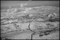 Looking along the road to the town of San Eusiamo del Sangro, Italy, World War II - Photograph taken by George Kaye