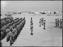 General Freyberg addresses Divisional Signals at the handing over of command by Colonel Agar to Major Grant, Maadi - Photograph taken by G F Kaye