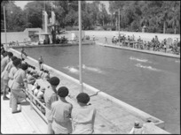 General view of the Alamein Baths, Cairo, World War II - Photograph taken by G Kaye