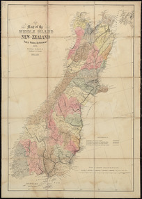 Map of the North Island, New Zealand [cartographic material] ; Map of the South Island, New Zealand / drawn by A. Koch.