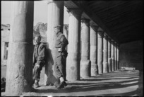 Two New Zealand soldiers sightseeing in Pompei, Italy, World War II - Photograph taken by George Kaye