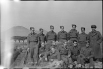 Group of New Zealand soldiers visiting ancient town of Pompei, Italy, World War II - Photograph taken by George Kaye
