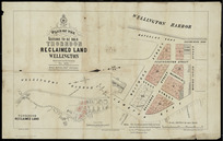 Plan of the sections to be sold Thorndon reclaimed land, Wellington [cartographic material] / surveyed by E.V. Briscoe, Nov. 1878 ; drawn by A. Koch ; photo-lithographed by A. McColl.