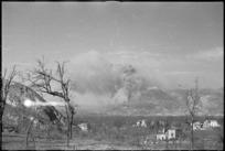 Bombing of the Benedictine Monastery on Monte Cassino, Italy, World War II - Photograph taken by George Kaye