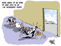 Hawkey, Allan Charles, 1941- :More needs to be done to keep vets in NZ - NZ Veterinary Assoc. 30 May 2012