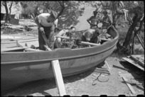 Boat building at 1 NZ Convalescent Depot in Santo Spirito, Italy, World War II - Photograph taken by George Bull