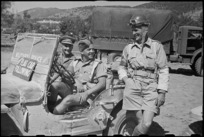 New Zealand provosts who escorted Prime Minister Peter Fraser on his tour of the Italian Front, World War II - Photograph taken by George Bull