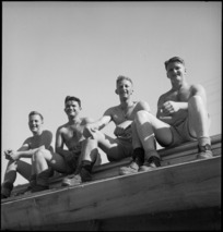 Members of the New Zealand Forestry Unit in southern Italy, World War II - Photograph taken by M D Elias