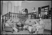World War 2 New Zealand soldiers in the New Zealand Forces Club in Rome, Italy