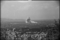 German demolition exploding to the west of Florence, Italy, during World War II - Photograph taken by George Kaye