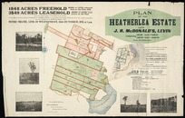 Plan of the Heatherlea estate, late J.R. McDonald's, Levin [cartographic material] / surveyed by Thomas Ward ; Ward & Salmon, surveyors & civil engineers.