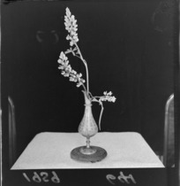 Floral decorations at an exhibition