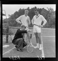 Unidentified Australian tennis players at Central Park, Wellington