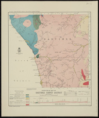 Geological map of Hastings survey district [cartographic material] / compiled and drawn by G.E. Harris.